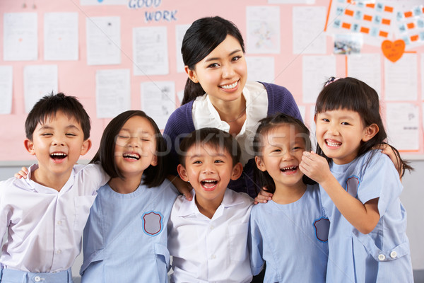 Portait Of Teacher And Students In Chinese School Classroom Stock photo © monkey_business