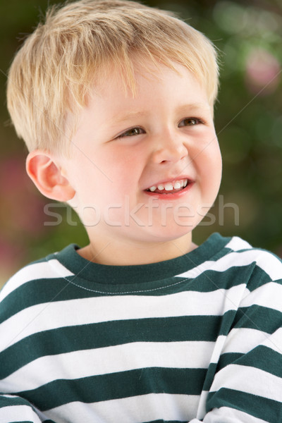 Portret uśmiechnięty młody chłopak odkryty dzieci szczęśliwy Zdjęcia stock © monkey_business