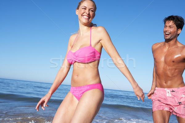 Сток-фото: пару · женщину · женщины · морем