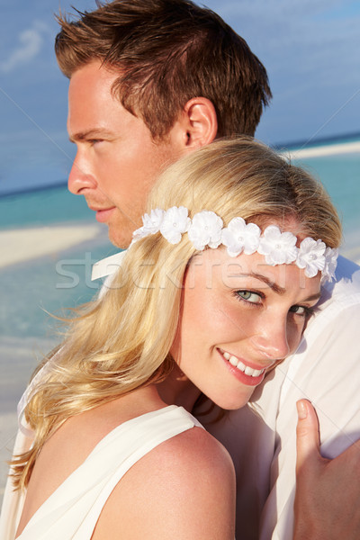 Stock photo: Couple At Beautiful Beach Wedding
