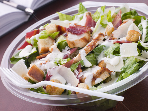 Chicken And Bacon Caeser Salad Stock photo © monkey_business