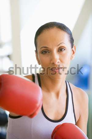 Foto stock: Mujer · boxeo · gimnasio · fitness · femenino · pie