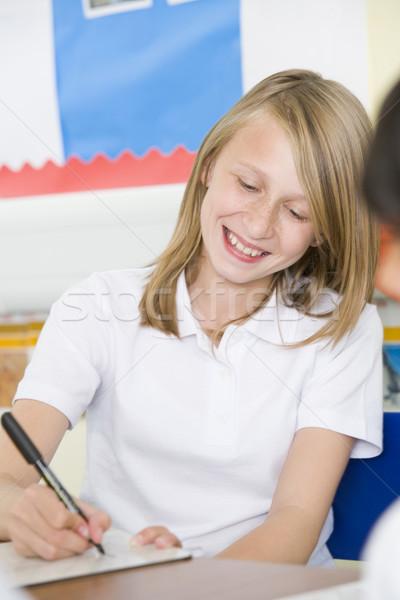 女学生 勉強 クラス 少女 子 教室 ストックフォト © monkey_business