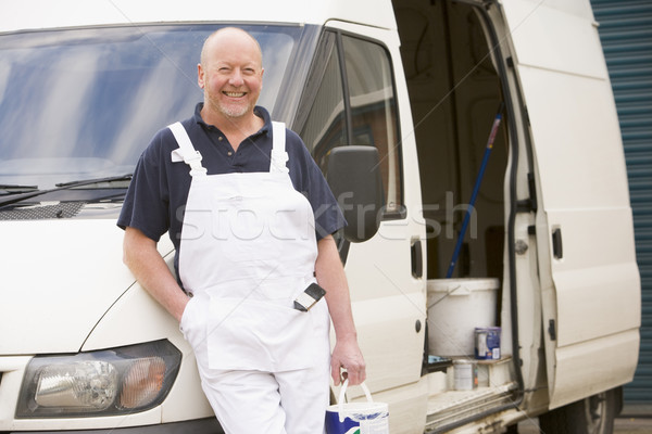 Painter standing with van smiling Stock photo © monkey_business
