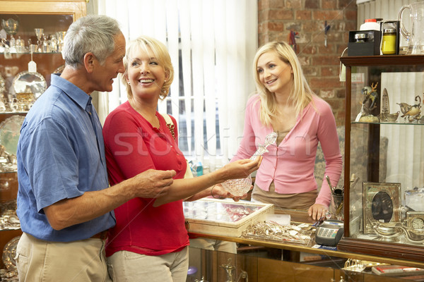 Couple shopping in antique shop Stock photo © monkey_business