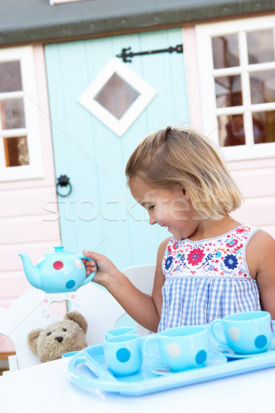 A young girl plays outdoors Stock photo © monkey_business