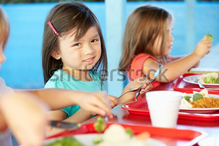 Girl learning about plants in school class Stock photo © monkey_business