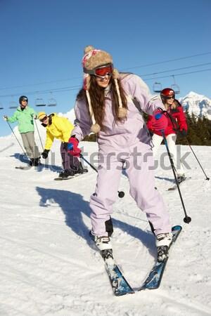 Family On Ski Holiday In Mountains Stock photo © monkey_business
