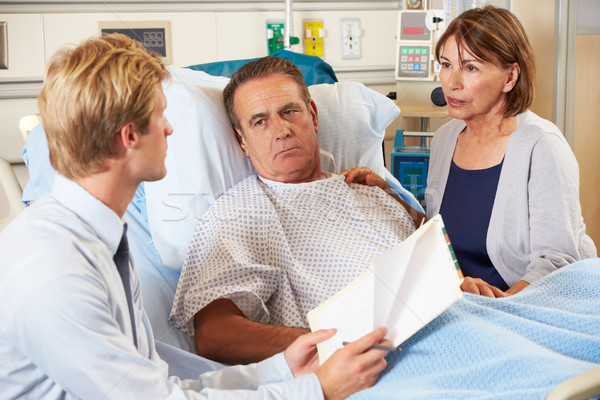 Doctor Talking To Couple On Ward Stock photo © monkey_business