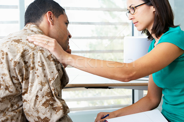 Soldier Having Counselling Session Stock photo © monkey_business