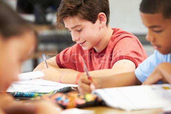 Photo stock: élèves · étudier · classe · livre · enfant · éducation