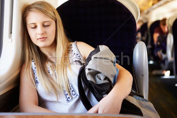 十代の少女 列車 旅 旅行 速度 ストックフォト © monkey_business