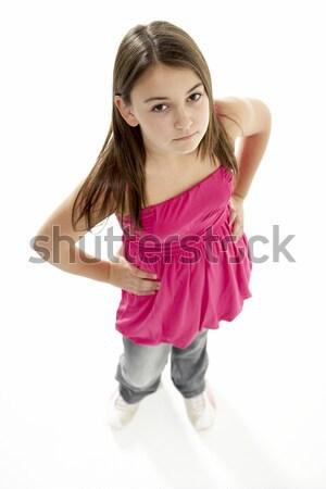 肖像 若い女の子 クロス 色 代 ストックフォト © monkey_business