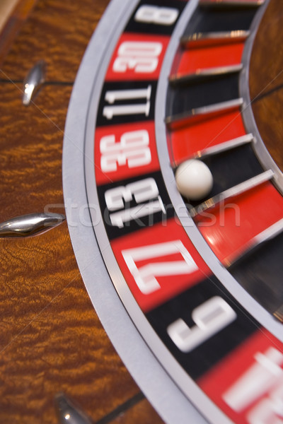 Rueda de la ruleta pelota número trece casino Foto stock © monkey_business