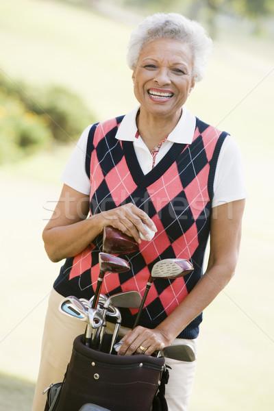 портрет женщины гольфист женщину спорт цвета Сток-фото © monkey_business