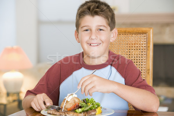 Young Boy Eating meal,mealtime Stock photo © monkey_business