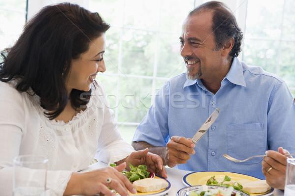Para posiłek wraz kobieta Zdjęcia stock © monkey_business