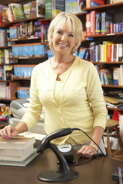 Female bookshop proprietor Stock photo © monkey_business