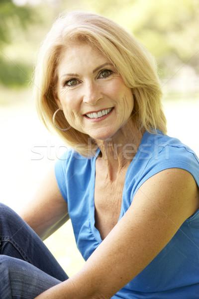 Stock photo: Portrait Of Senior Woman In Park