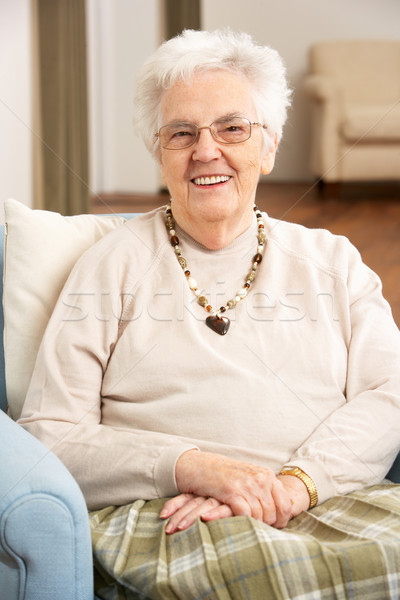 Senior Woman In Chair At Home Stock photo © monkey_business