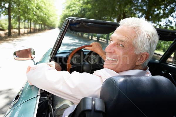 Senior man in sports car Stock photo © monkey_business