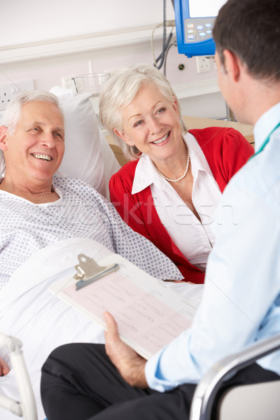 Doktor konuşma hastane adam tıbbi Stok fotoğraf © monkey_business