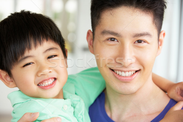 Head And Shoulders Portrait Of Chinese Father And Son Stock photo © monkey_business