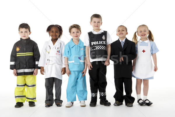 Stock photo: Young Children Dressing Up As Professions