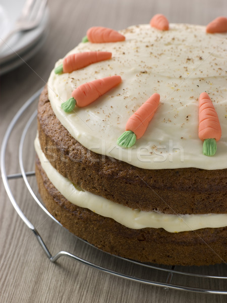 American Carrot Cake On A Cooling Rack Stock photo © monkey_business
