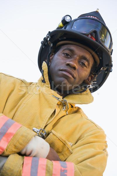 Portrait of a firefighter Stock photo © monkey_business