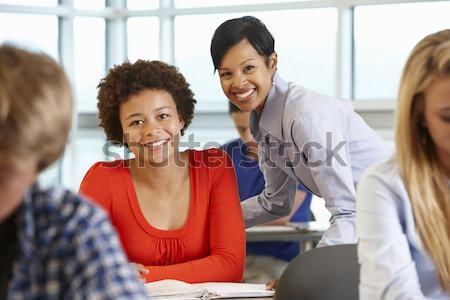 Сток-фото: школьница · школу · класс · девушки · человека · счастливым
