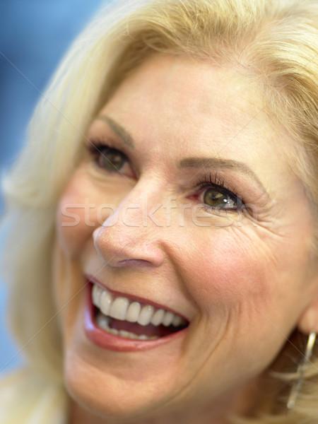 Zdjęcia stock: Twarz · szczęśliwy · portret · osoby · uśmiechnięty · starszy