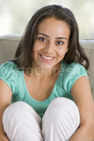 Retrato nina casa adolescente sonriendo Foto stock © monkey_business