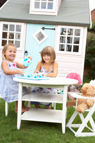Two young girls play outdoors Stock photo © monkey_business