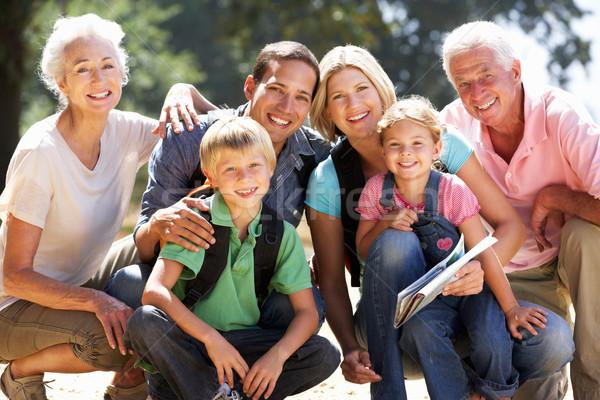 Trois génération famille pays marche femme Photo stock © monkey_business