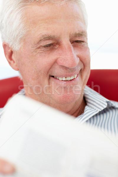 Senior man reading Stock photo © monkey_business
