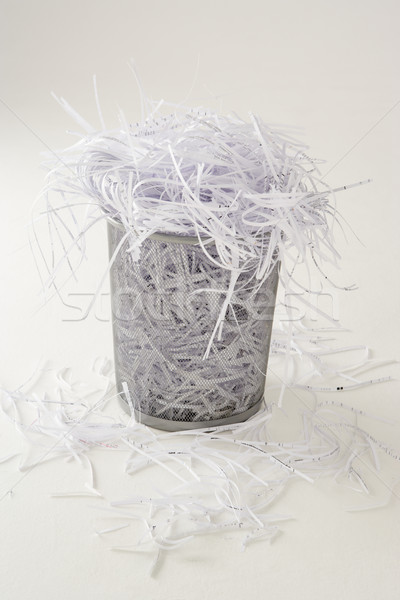 Waste bin full of shredding Stock photo © monkey_business