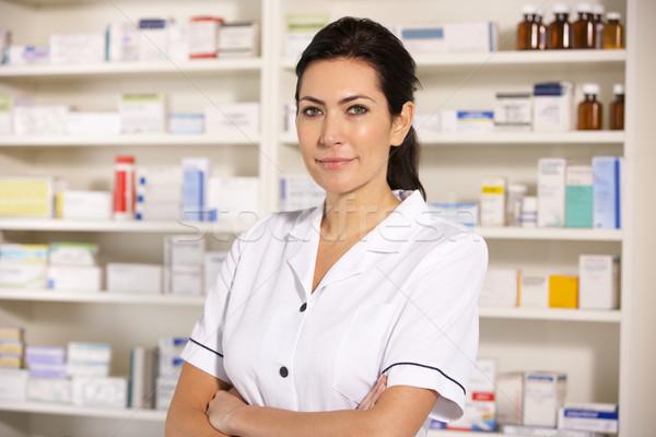 Portrait American pharmacist at work Stock photo © monkey_business