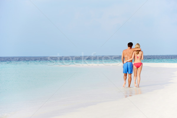 Romântico casal caminhada belo praia tropical mulher Foto stock © monkey_business