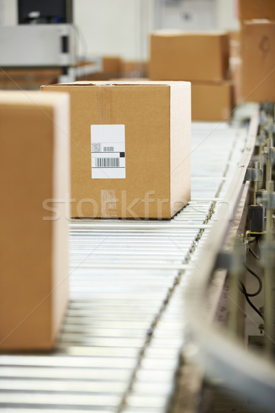 Goods On Conveyor Belt In Distribution Warehouse Stock photo © monkey_business