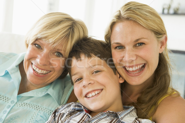 Mère augmenté up fille fils enfant Photo stock © monkey_business