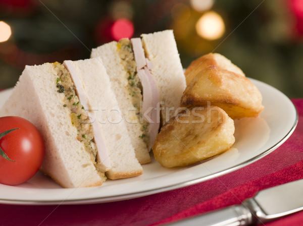 Türkiye mayonez sandviç soğuk gıda Stok fotoğraf © monkey_business