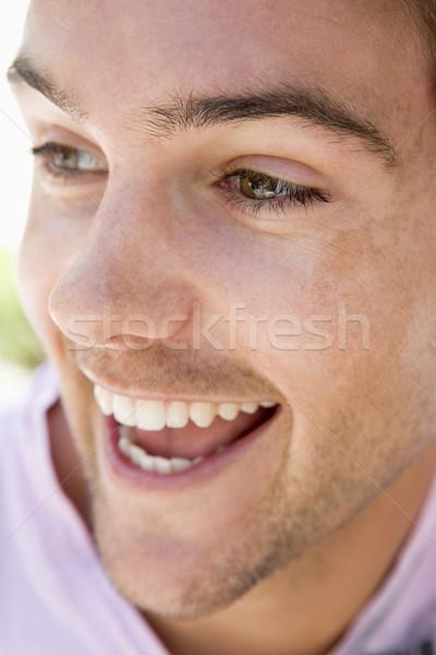ストックフォト: 頭 · ショット · 男 · 笑みを浮かべて · 顔 · 肖像