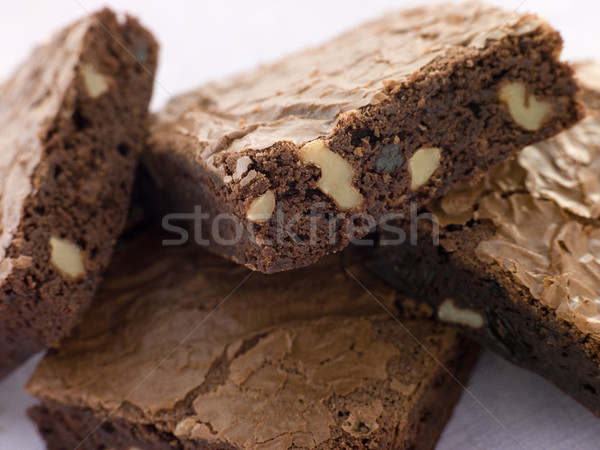 Chocolate Nut Brownies Stock photo © monkey_business