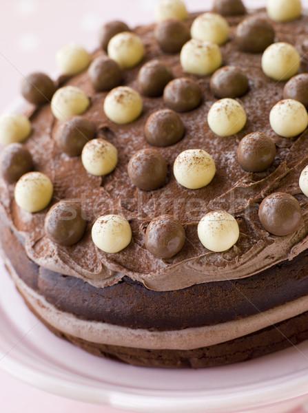 Chocolate Malteser Cake Stock photo © monkey_business