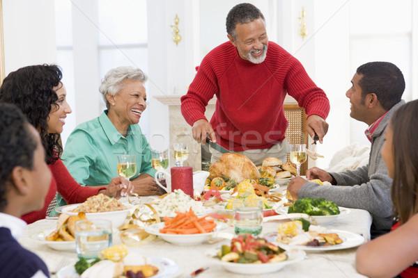 Família juntos natal jantar feliz Foto stock © monkey_business