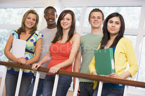 Group of college students on campus Stock photo © monkey_business