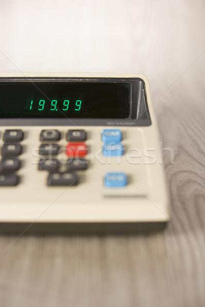 Verouderd calculator financieren vintage math kleur Stockfoto © monkey_business