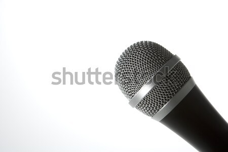 Close-Up Of A Microphone Stock photo © monkey_business