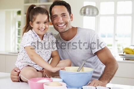 情侶 享受 早餐 女子 快樂 商業照片 © monkey_business
